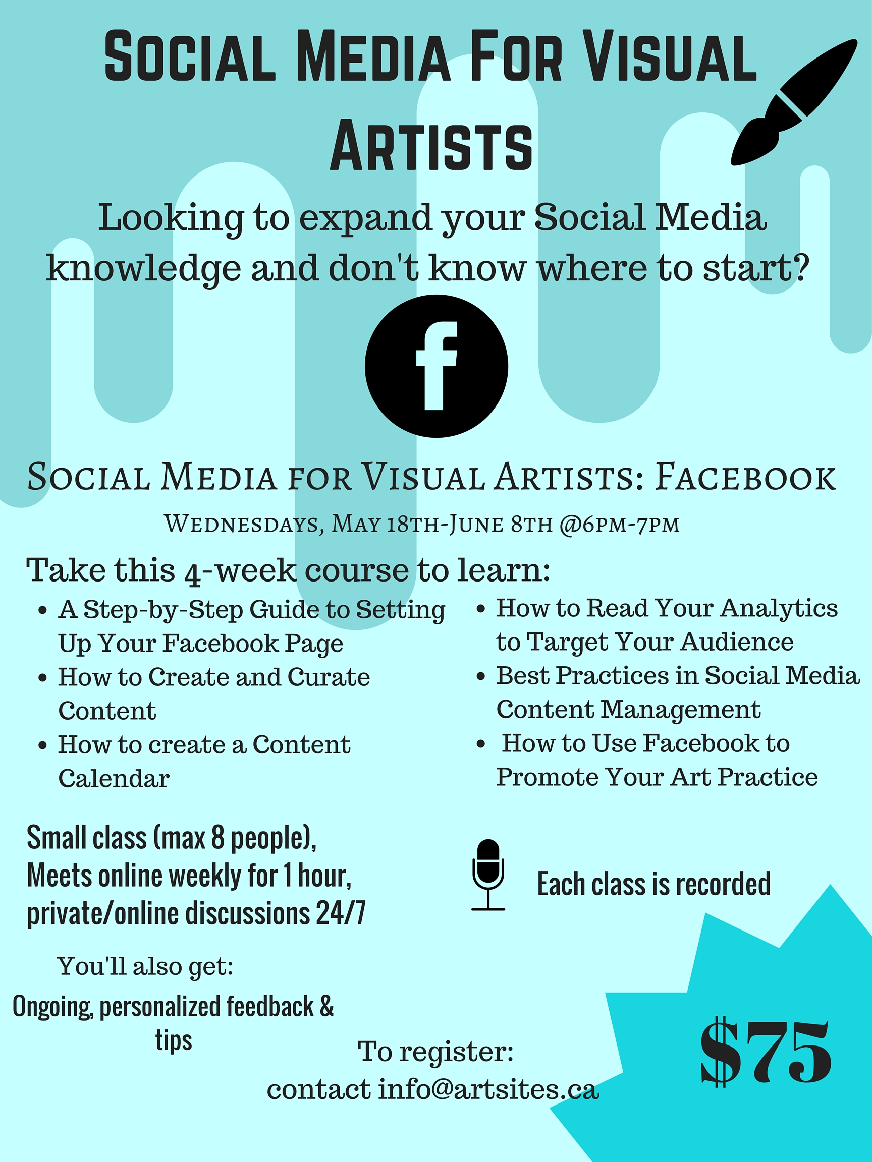 Social Media for Visual Artists Workshop - Facebook