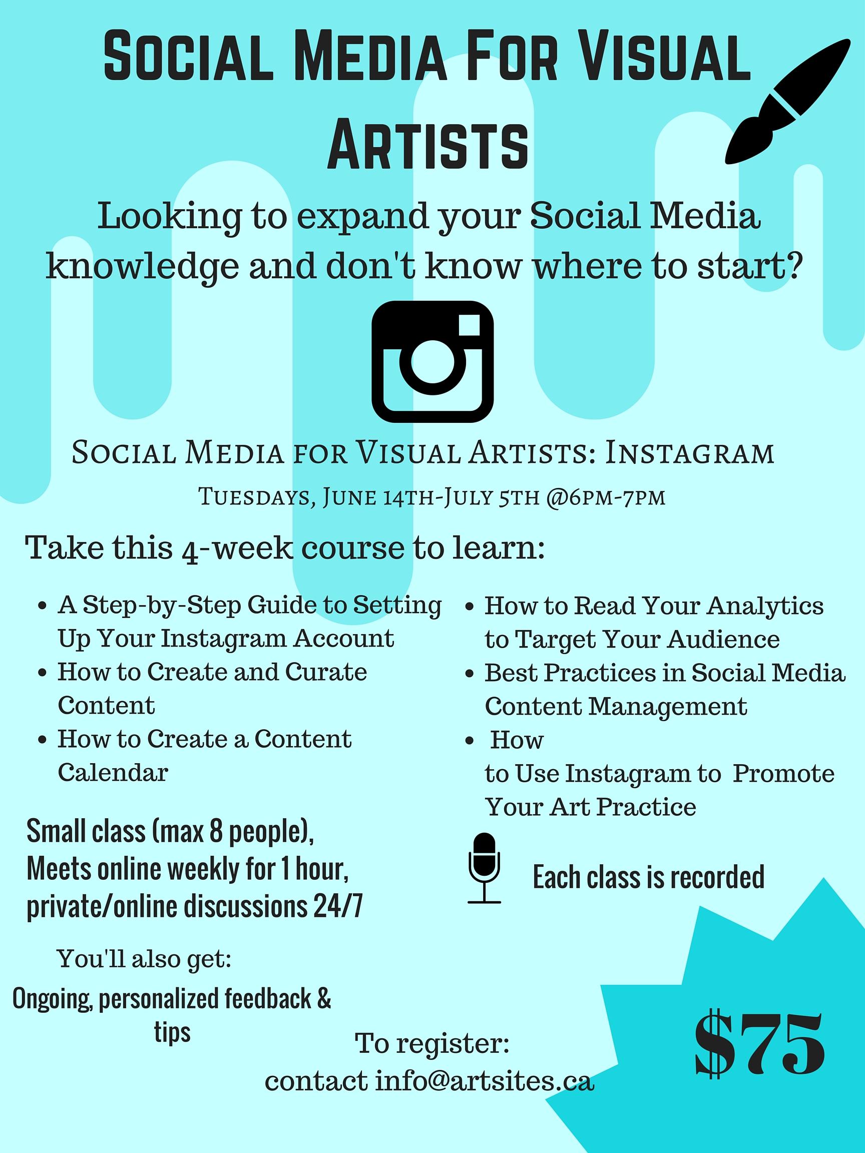 Social Media for Visual Artists Workshop - Instagram